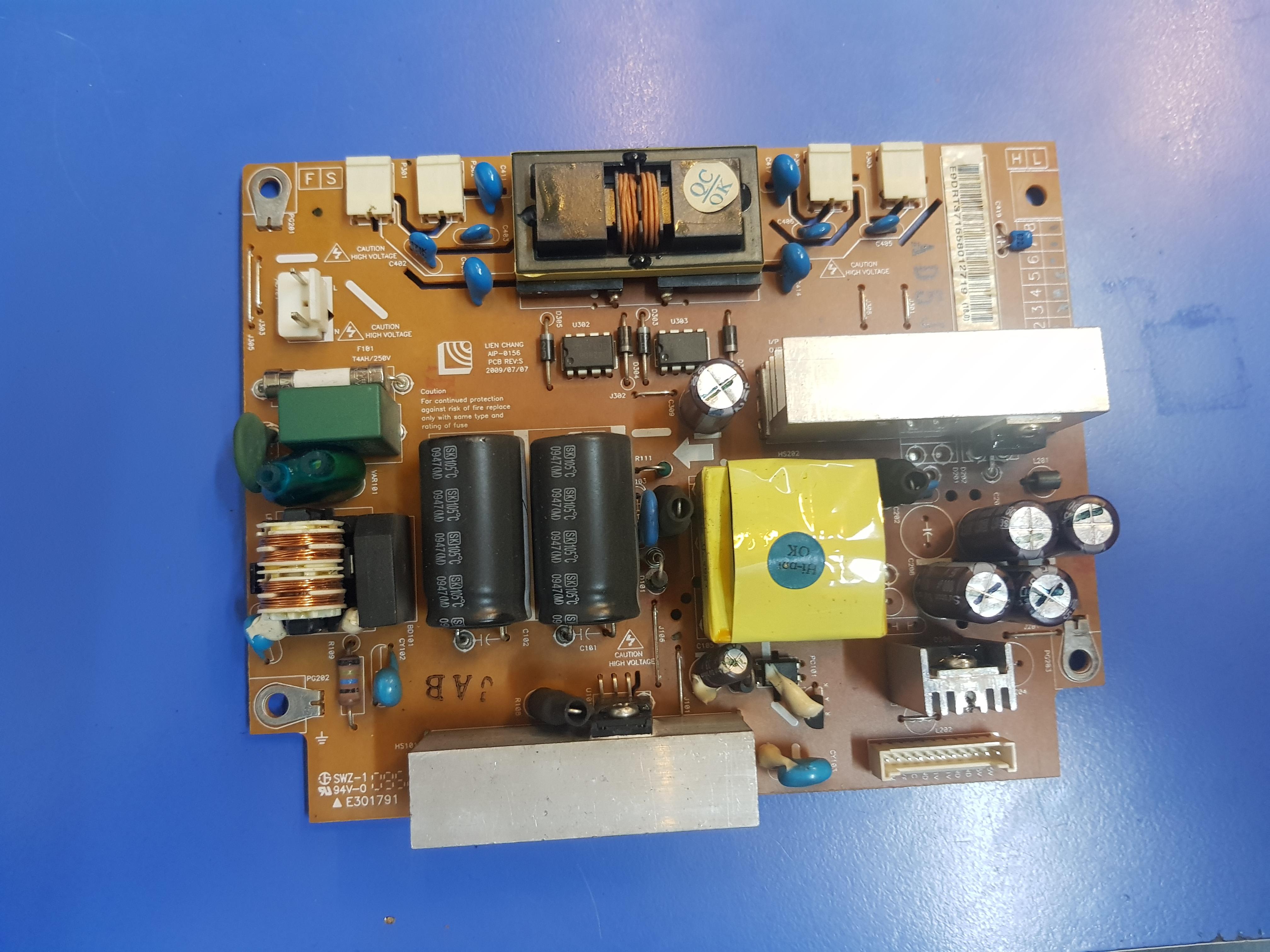 AIP-0156, EAY37155801 AIP-0156, EAY37155801, Power Supply, Backlight Inverter, M220Z1-L03 REV C1, LG FLATRON L225WS-BF, LG 22LG30-UA